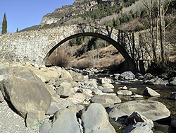 Canfranc. The Canfranc Bridge